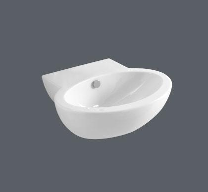 Lavabo sospeso per il bagno cm 55 x 47 Comoda Azzurra