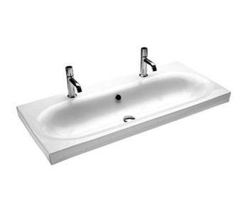 Lavabo sospeso  doppio foro per il bagno cm 110 Daytime Hatria