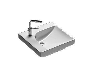 Lavabo sospeso per il bagno cm 50 dx Grandangolo Hatria