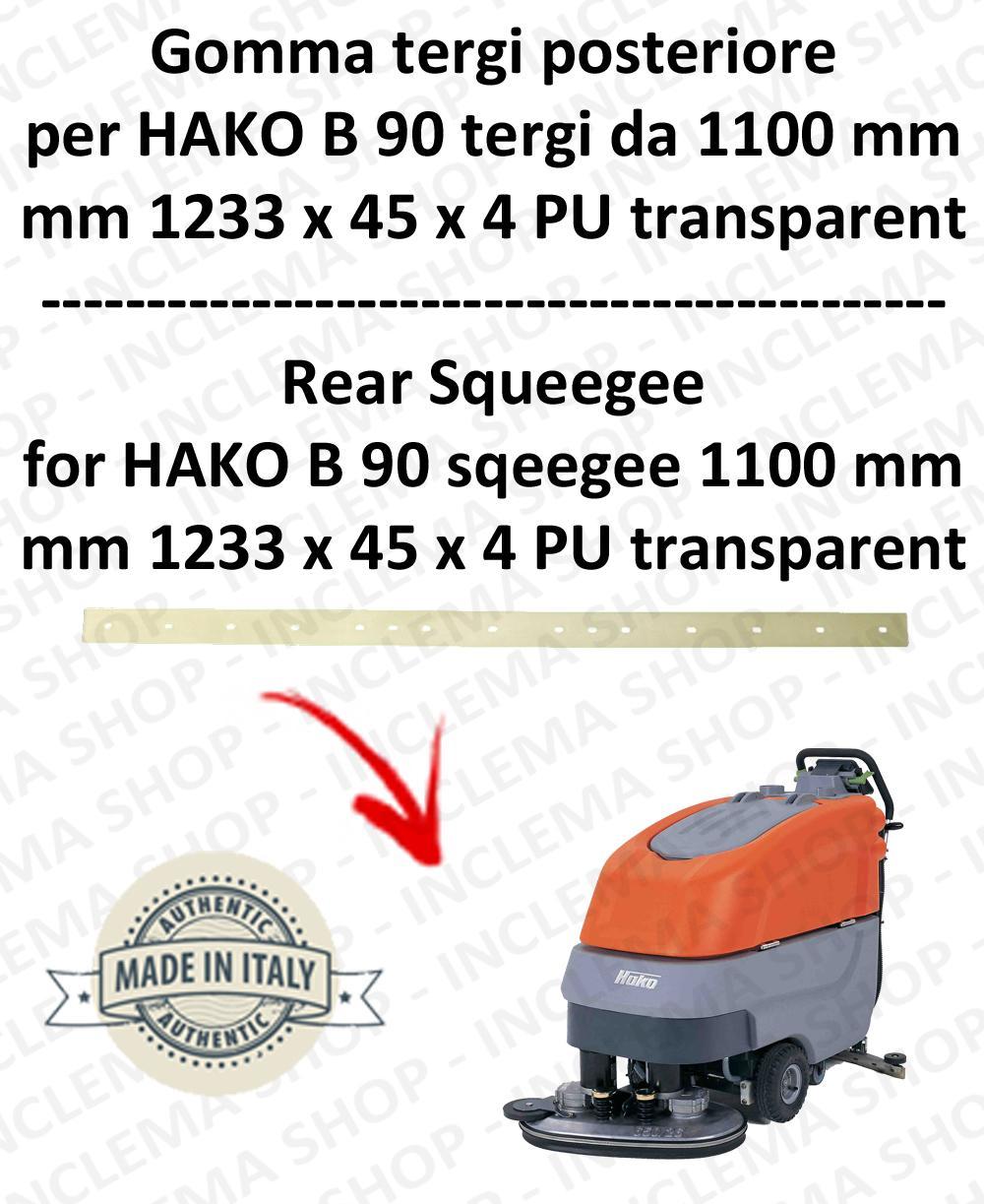 B 90 (saug von 1100 mm) Hinten sauglippen für scheuersaugmaschinen HAKO