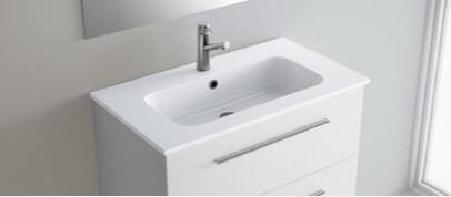 Lavabo sospeso per il bagno cm 80,5 Mineralmarmo Sofia Salgar
