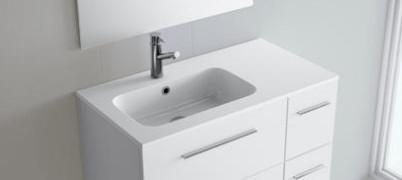 Lavabo sospeso per il bagno cm 85,5 sx Mineralmarmo Sofia Salgar