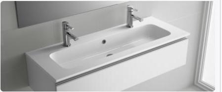 Lavabo sospeso per il bagno cm 121 Mineralmarmo Sofia Salgar