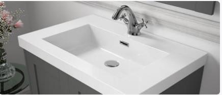 Lavabo sospeso per il bagno cm 100,5 Mineralmarmo Toscana Salgar