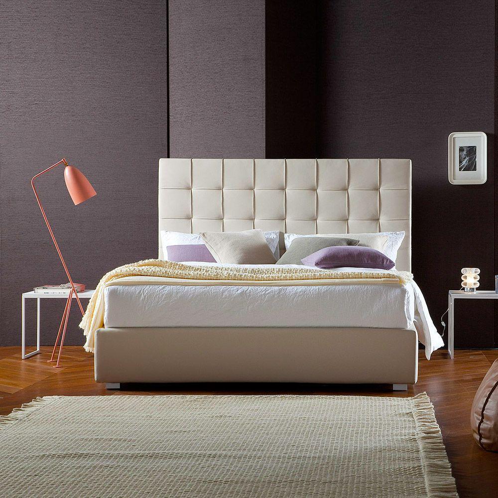 Clo di chaarme letto imbottito in ecopelle con testiera - Testiera letto ecopelle ...