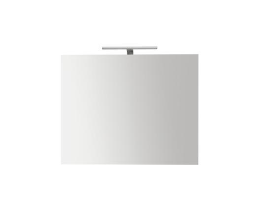 Specchiera da bagno filo lucido con lampada cm 60 x 70 Globo