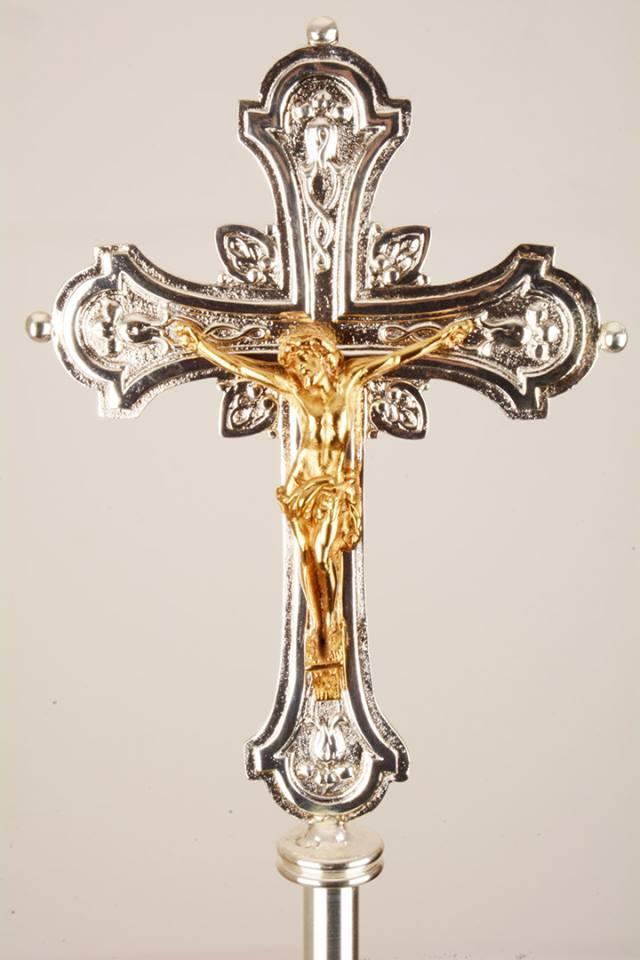 Croce Astile in Bronzo Bicolore GALF2001