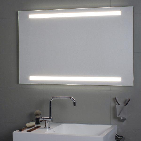 Specchio per il bagno cm 100 x 80 Superiore e inferiore led Koh i noor