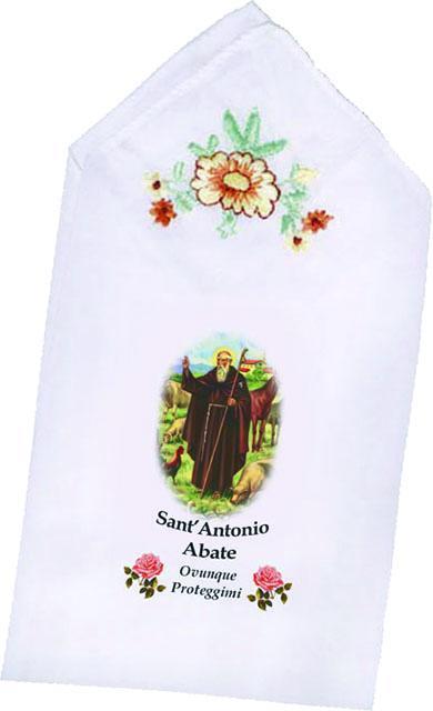 Fazzoletto con immagine S. Antonio Abate