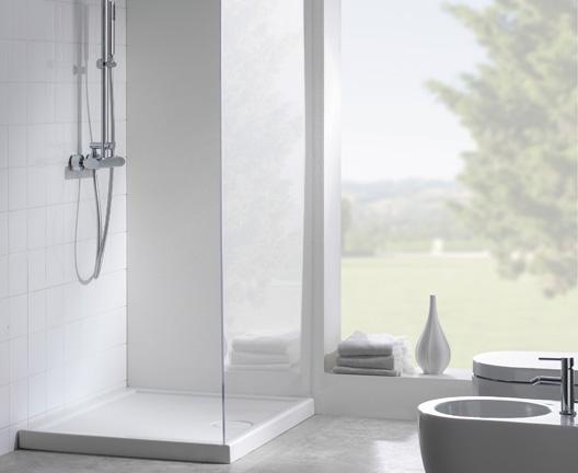 Piatto doccia per il bagno cm 90 x 72 Docciabella Globo