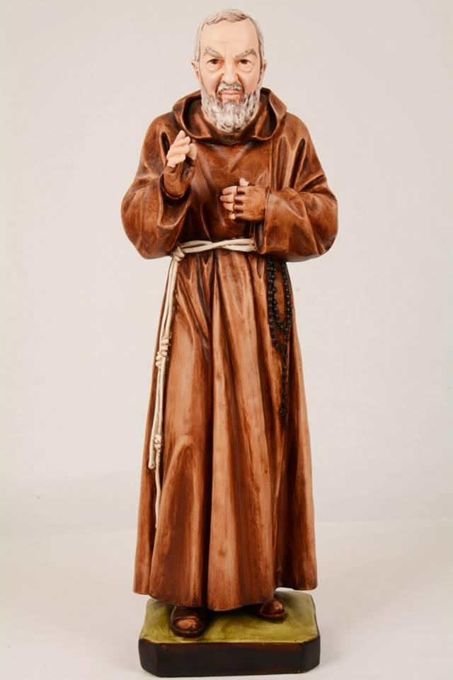 Statua Padre Pio in resina PA605 h. 60