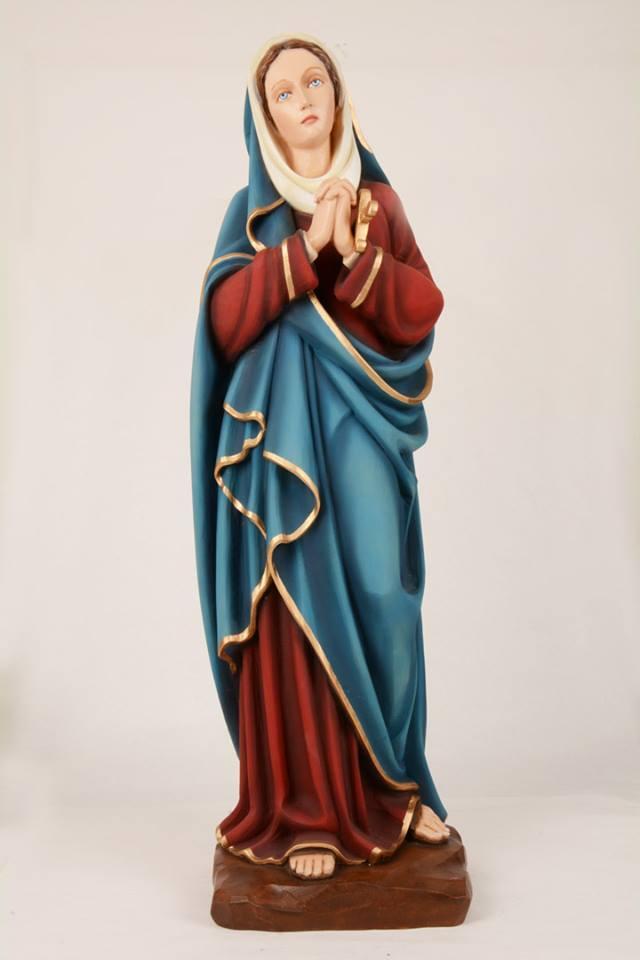 Statua Madonna addolorata in resina DEC1580 h. 80