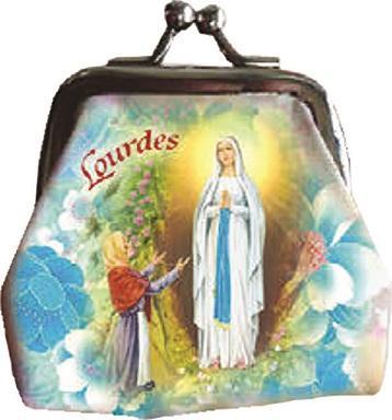 Borsellino con rosario Madonna di Lourdes