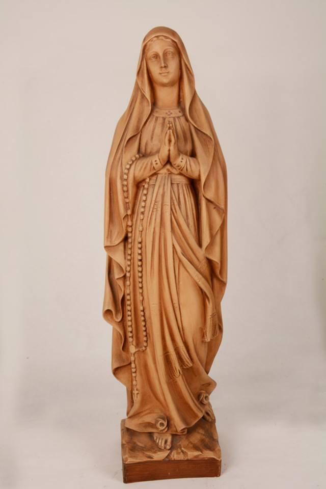 Statua Madonna di Lourdes in resina patinata h. 80