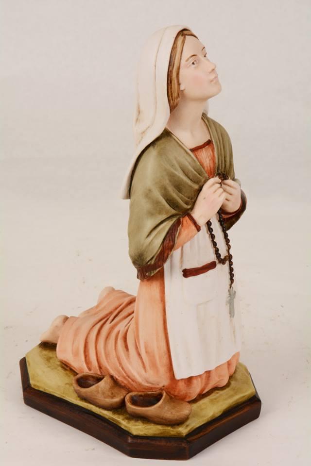Statua Santa Bernadette in resina PASQ298 h. 30
