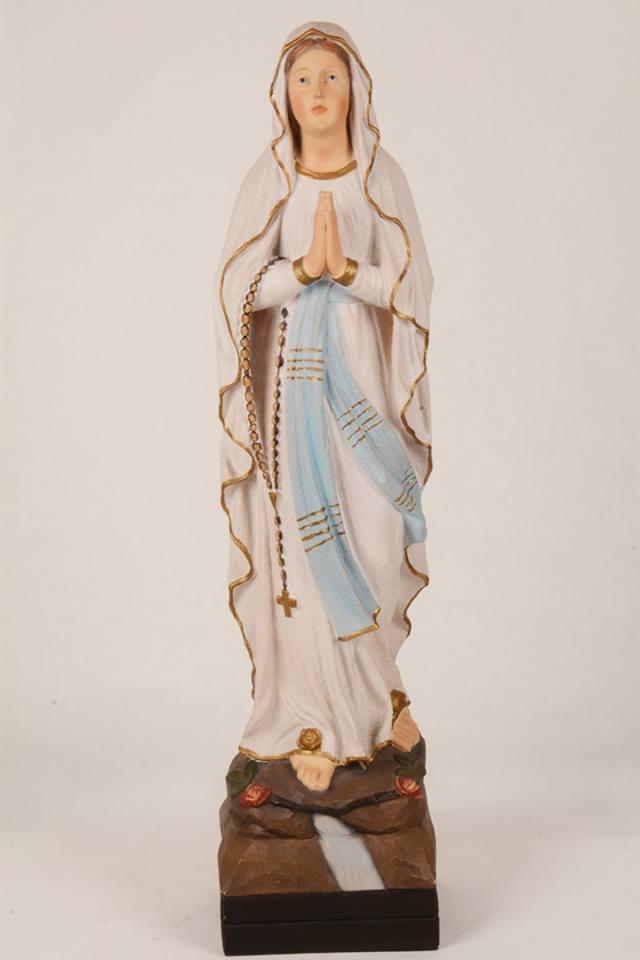 Statua Madonna di Lourdes in vetroresina DEC43-70 h. 70