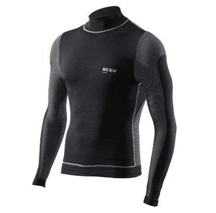 LUPETTO MANICHE LUNGHE WINDSHELL CARBON UNDERWEAR SIXS TS4 BLACK CARBON