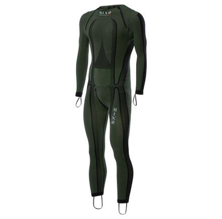 SOTTOTUTA MOTO INTEGRALE RACING CARBON UNDERWEAR SIXS STX R DARK GREEN