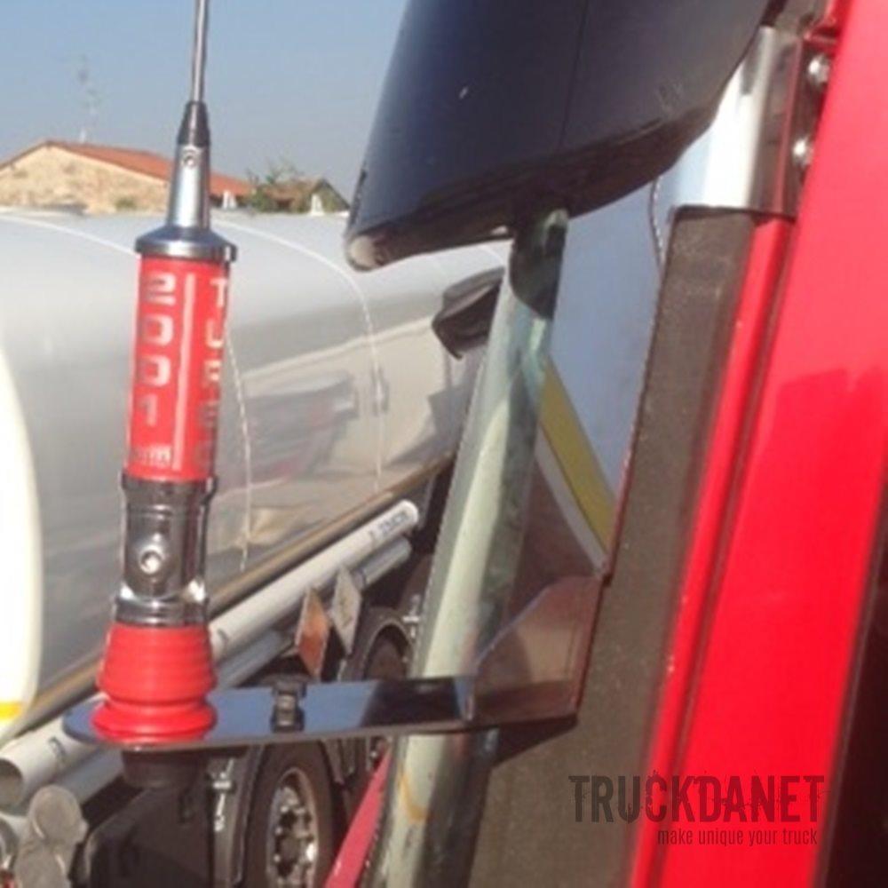 TRUCKDANET Accessorio in acciaio INOX per camion Scania serie S R new R Staffa per antenna CB