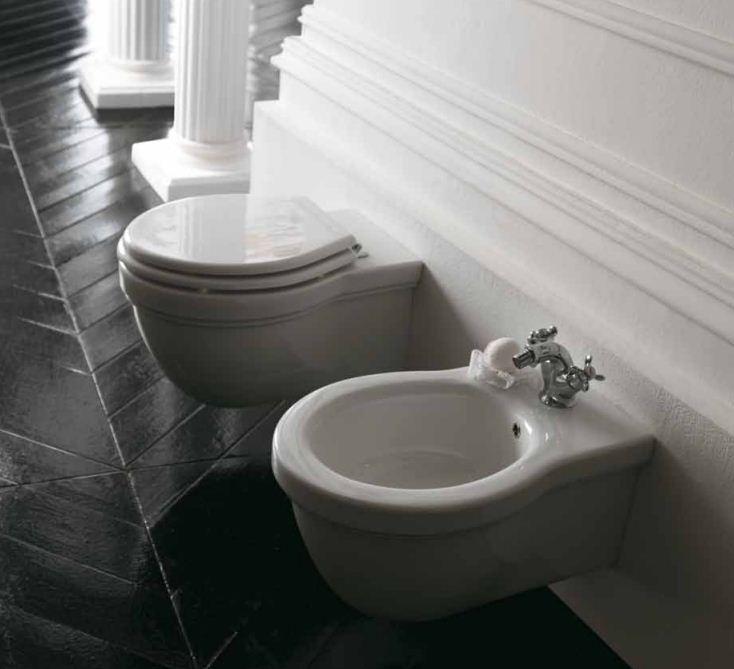 Vaso e bidet sospeso per il bagno monoforo Ethos Galassia cm 55 x 38