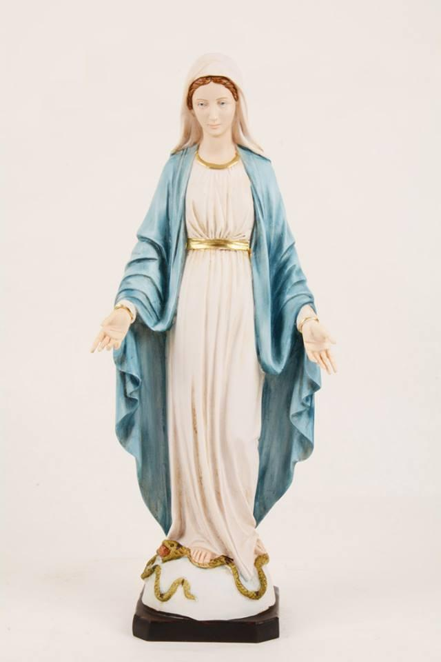 Statua Madonna Miracolosa in resina h. 50 PASQPA507