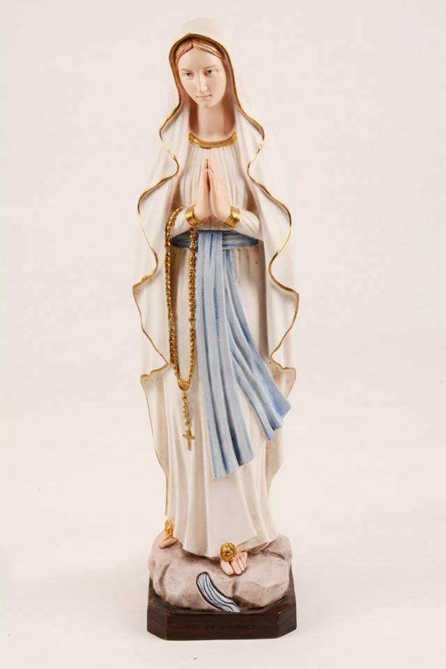 Statua Madonna di Lourdes in resina h. 50 PASQPA501
