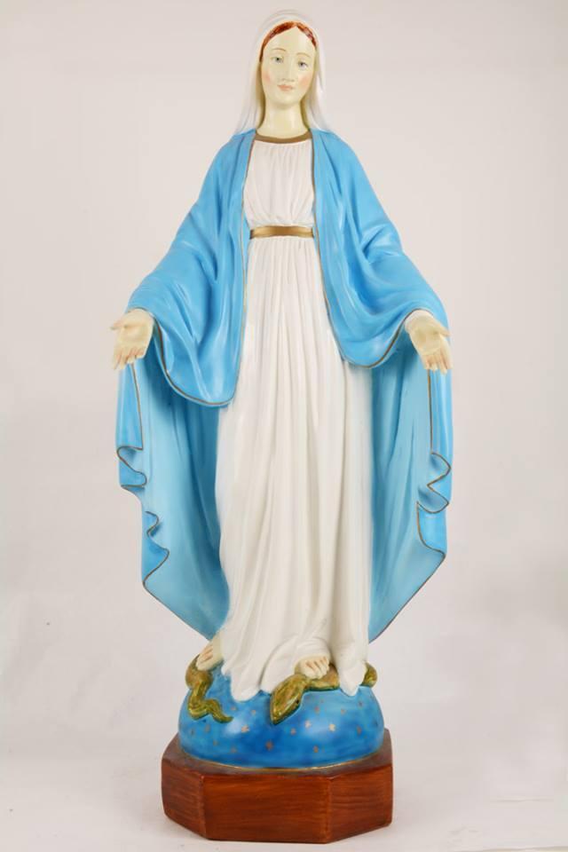 Statua Madonna Miracolosa in Resina PISCAS12-90 h. 90