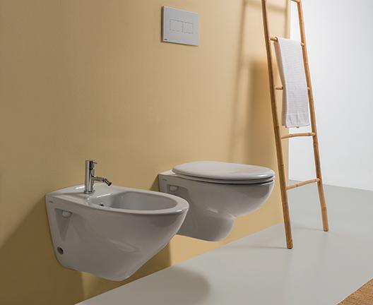 Vaso e bidet sospeso per il bagno cm 52 x 35 Arianna Globo