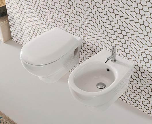 Vaso e bidet sospeso per il bagno cm 52 x 36 Grace Globo