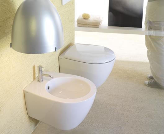 Vaso e bidet sospeso per il bagno cm 50 x 38 Bowl+ Globo