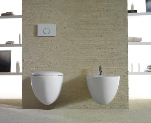 Vaso e bidet sospeso per il bagno cm 55 x 38 Bowl+ Globo