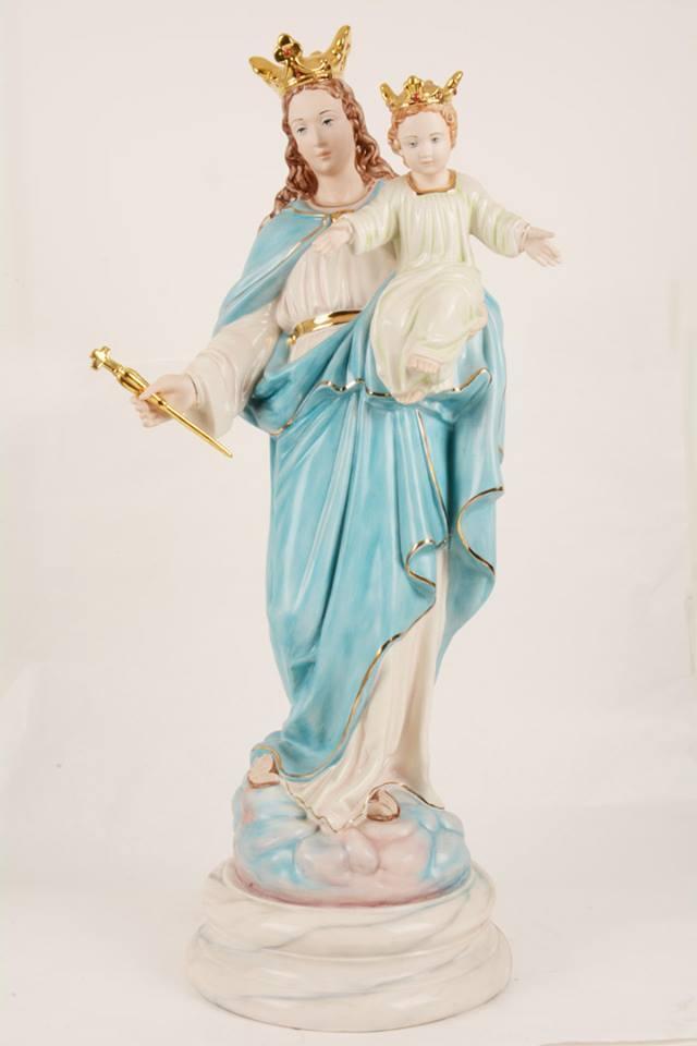 Statua Madonna Ausiliatrice in porcellana PING-MA75 h. 75