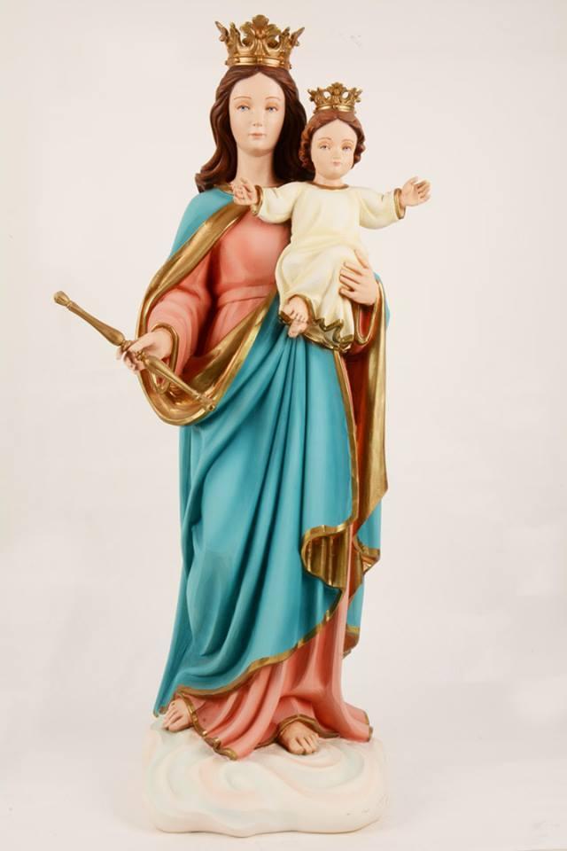 Statua Madonna Ausiliatrice in vetroresina DEC115-80 h. 80
