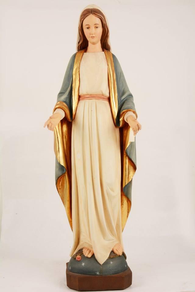 Statua Madonna Miracolosa in vetroresina DOL19303-80 h. 80