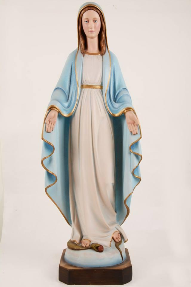 Statua Madonna Miracolosa in vetroresina DEC130-80 h. 80