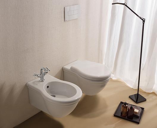 Bidet sospeso per il bagno cm 57 x 38 Paestum Globo