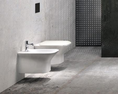 Vaso e bidet sospeso per il bagno cm 52 x 35 Prua Azzurra