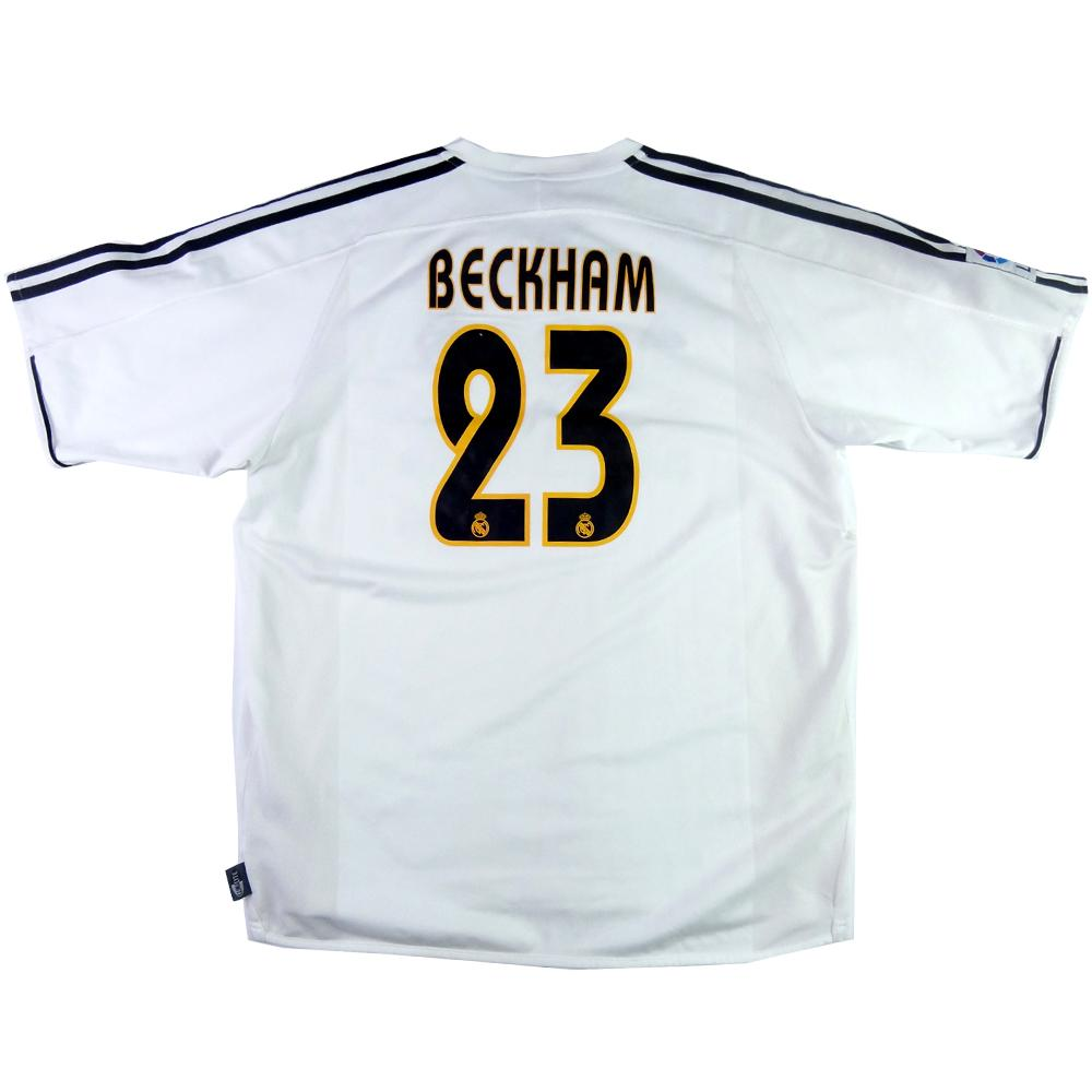 6ed0afd89 2003-04 Real Madrid SHIRT  23 Beckham Home XL (Top)