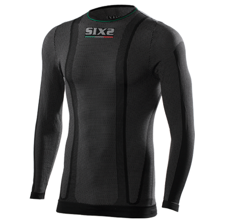 GIROCOLLO MANICHE LUNGHE SUPERLIGHT SIXS TS2L CARBON UNDERWEAR BLACK CARBON