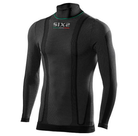 LUPETTO MANICHE LUNGHE SUPERLIGHT SIXS TS3L CARBON UNDERWEAR BLACK CARBON