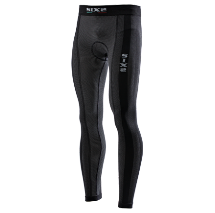 LEGGINGS SUPERLIGHT SIXS PN2L CARBON UNDERWEAR BLACK CARBON CON FONDELLO