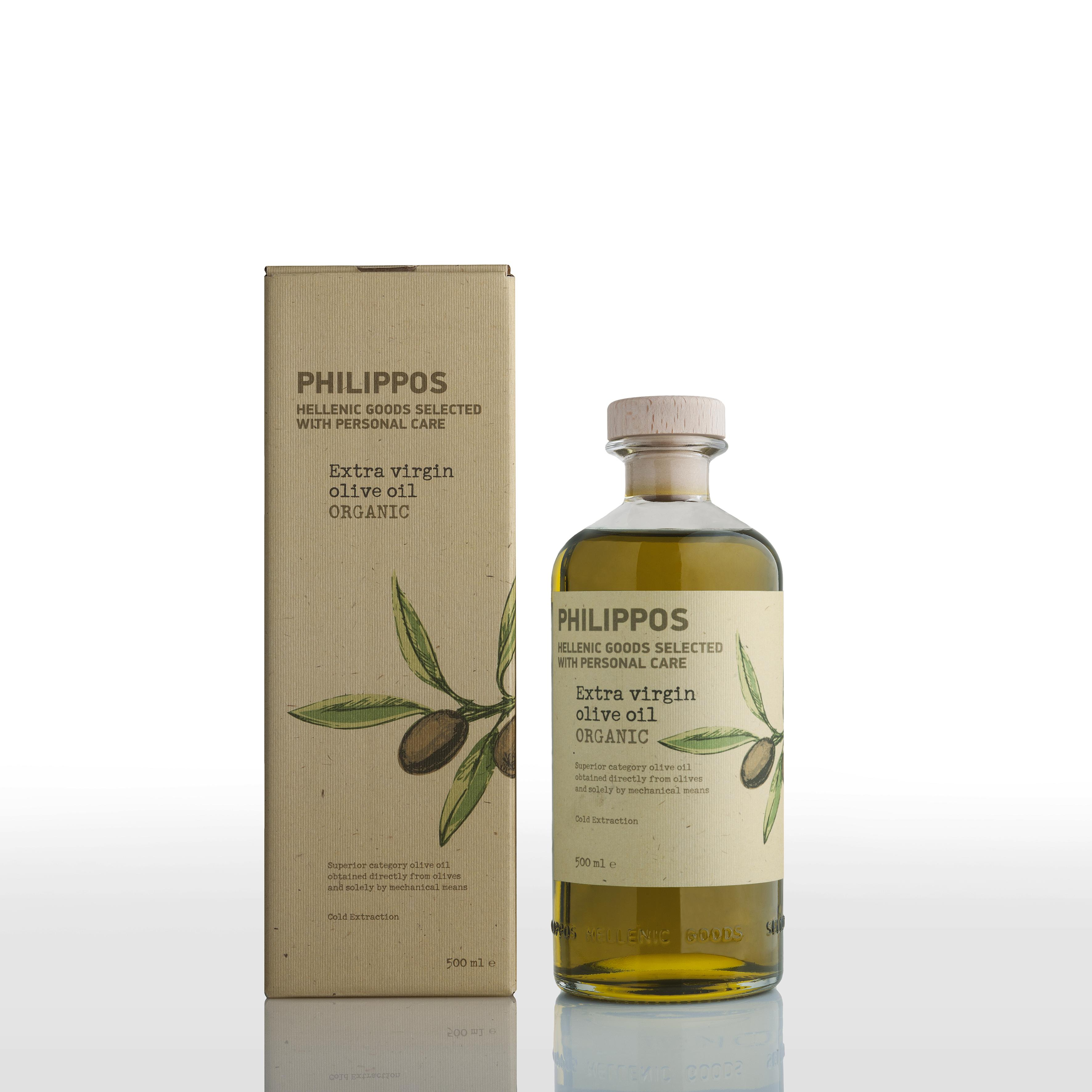 PHILIPPOS ORGANIC Extra Virgin Olive Oil 500ml