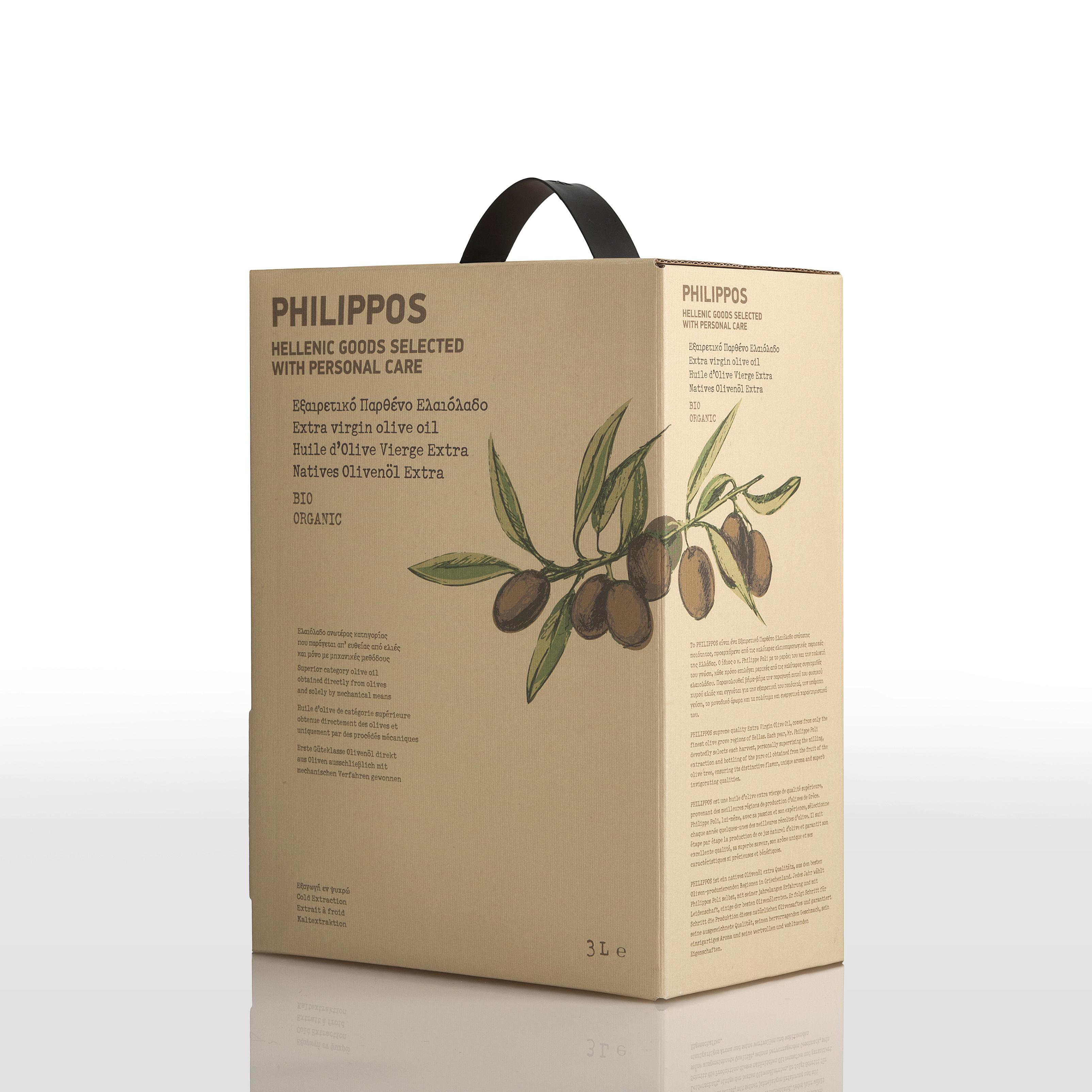 PHILIPPOS ORGANIC Extra Virgin Olive Oil 3L bag in box
