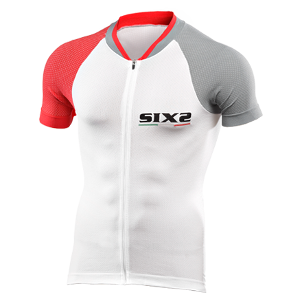 MAGLIA BICI MANICHE CORTE SIXS BIKE3 ULTRALIGHT GREY RED