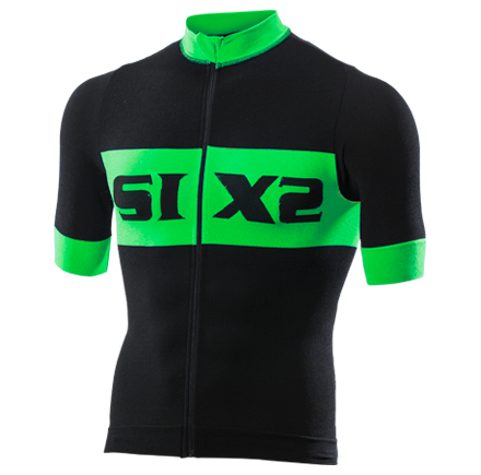 MAGLIA BICI MANICHE CORTE SIXS BIKE3 LUXURY BLACK GREEN