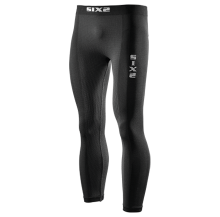 LEGGINGS SIXS PN2W CON FONDELLO CARBON UNDERWEAR BLACK CARBON