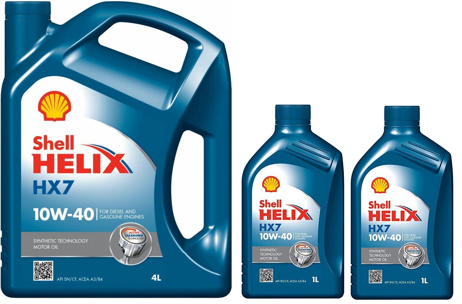 Kit cambio olio 6 LT Shell Helix HX7 10w/40 barattolo 4 litri + 2 baratt 1 litro