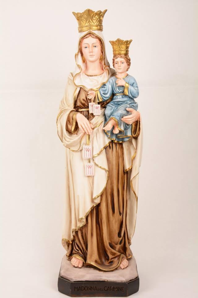 Statua Madonna del Carmine in resina h. 60