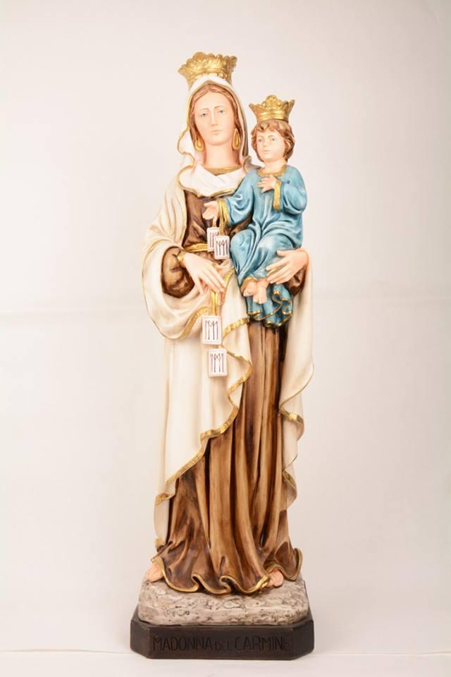 Statua Madonna del Carmine in resina PA914 h. 80