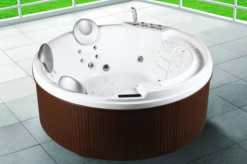 Vasca idromassaggio minipiscina da esterno giardino 200x200x80 29 idrogetti ebay - Vasca da bagno piscina ...